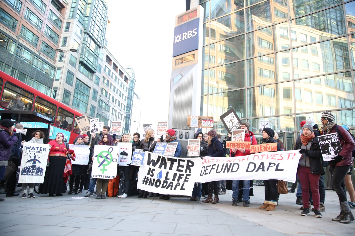 London banks targeted by Standing Rock Solidarity Actions